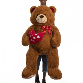 Teddy Bear 1 Meter And 30 Cm - Mozão With Brown Heart