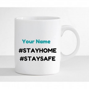 Stay Home-Caution Message Mug