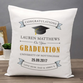 Graduation Personalized Message Pillow