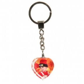 Personalized Crystal Heart Key Chain