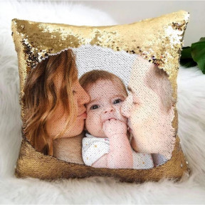 Mermaid Magic Personalized Cushion Gold