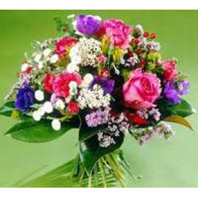 Round Assorted Bouquet With Roses
