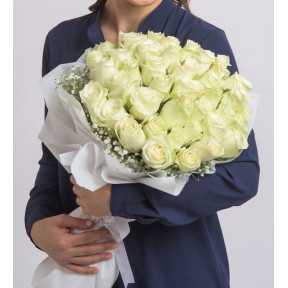 Bouquet Of 60 White Roses