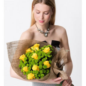 10 Yellow Roses - Spring Touch
