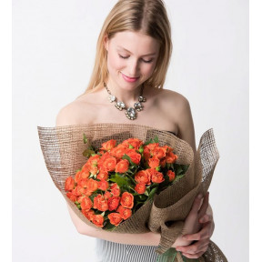 Bouquet Of 45 Orange Rambler Roses