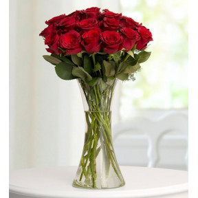 19 Red Roses - Red Hearts