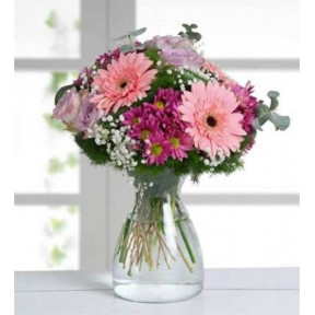 Gerberas, Roses And Daisies - Warm Colors