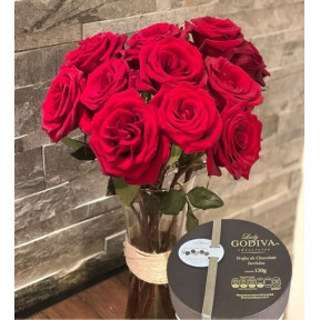 12 Red Roses And Lady Godiva