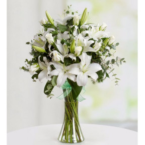 White Lilies And Roses - Elegant Touch