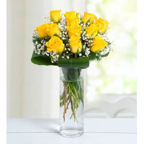 12 Yellow Roses - Good Morning Sunshine
