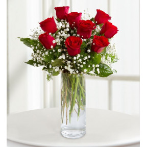 9 Red Roses- Little Tiny Surprise (With Vase)