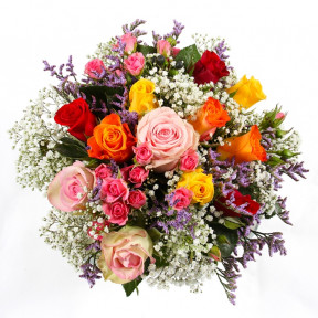 A colorful bouquet of roses-2
