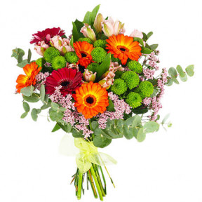 Send The Colorful Bouquet As A Flower Messenger (Standard)