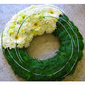 Funeral Flowers - Sparked wreath