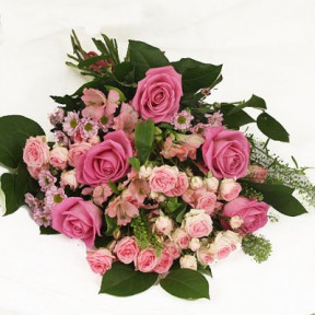 Funeral Flowers - Floristens val rosa (Small)