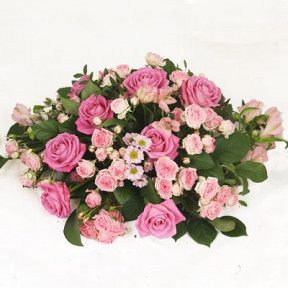 Funeral Flowers - Pink round (Small)
