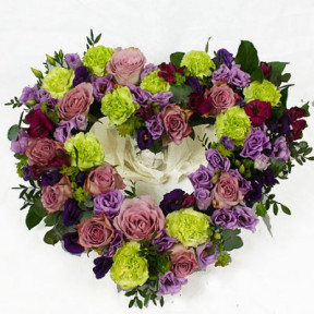 Funeral Flowers - florist choices purple (Small)