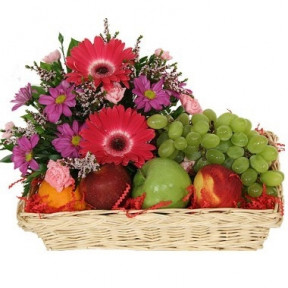 Fruits and Flowers Basket To Chile