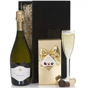 Sparkling Wine And Chocolates