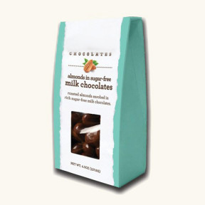Sugar Free Milk Chocolate Dipped Almonds, 4.5 Ounces (Set of Three)