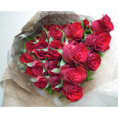 30 Red Roses Long Bouquet