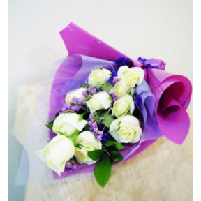 Bluish White Rose Bouquet