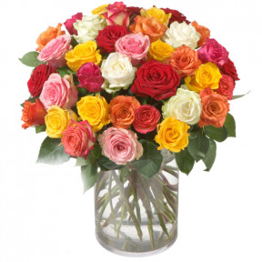 Bouquet Of Roses (36 Roses) With Fairtrade Max Havelaar-Roses, Big Blooms