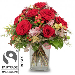 I Love You With Fairtrade Max Havelaar-Roses (Minimum)