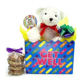 Get Well Teddy Bear Bouquet (1 Dozen)