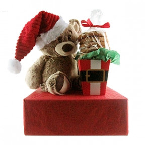 Santa Bear Cookie Gift (Half Dozen)