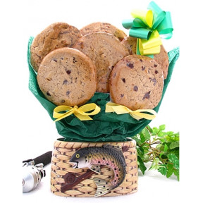 Fishing Basket Cookie Bouquet (1 Dozen)