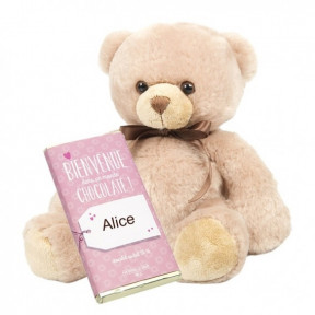 Teddy Bear And Girl Birth Tablet