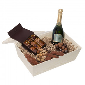 Sparkling Anniversary With Chocolates And Champagne
