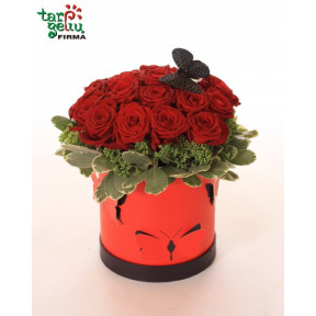 RED ROSES in BOX (Small)