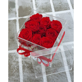 Crystal Red Rose Box (Small)