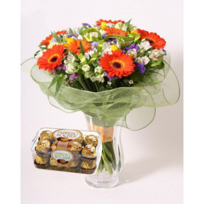 Flowers Bouquet ROMANCE + gift (Large)