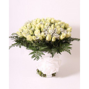 Bouquet of white roses (Large)