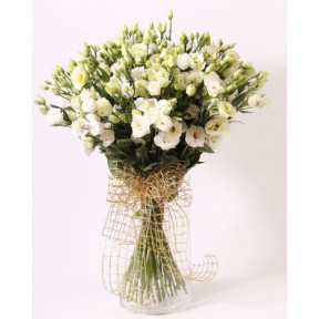 White eustoma bouquet (Small)