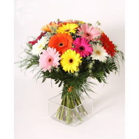 Motley gerberas bouquet (Large)