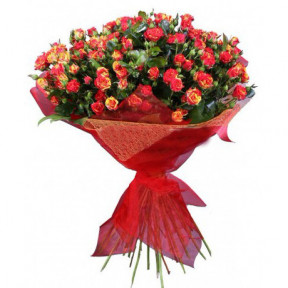 Bouquet of 35 Red Spray Roses