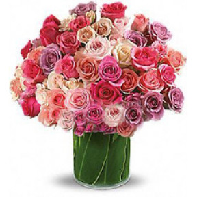 Bouquet Of 51 Multy-Colored Roses Admiration