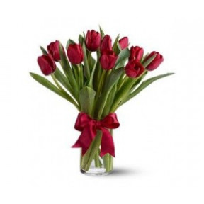 Bouquet of 11 Red tulips