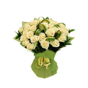 Bouquet of 35 white roses