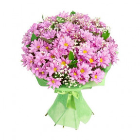 Bouquet of 11 pink chrysanthemums