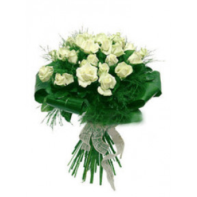 Bouquet of 25 white roses