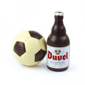 Soccer ball with chocolate
