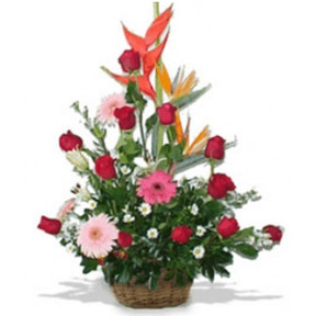 Flowered basket (Medium)