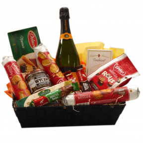 Belgian gift basket with Veuve Clicquot as a gift