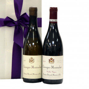 Duo Burgundy wine Chassagne Montrachet as a luxury gift