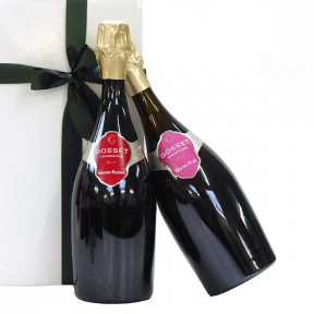 Gosset Grande Reserve and Rose packed together as a gift